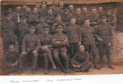 Royal Engineers 1914 Merrafield Farm